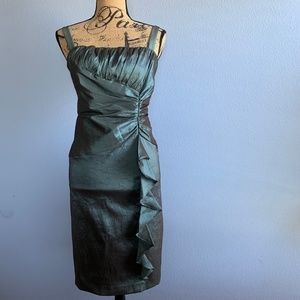 Dresses - R&M Collection Green Metallic Cocktail Dress 14
